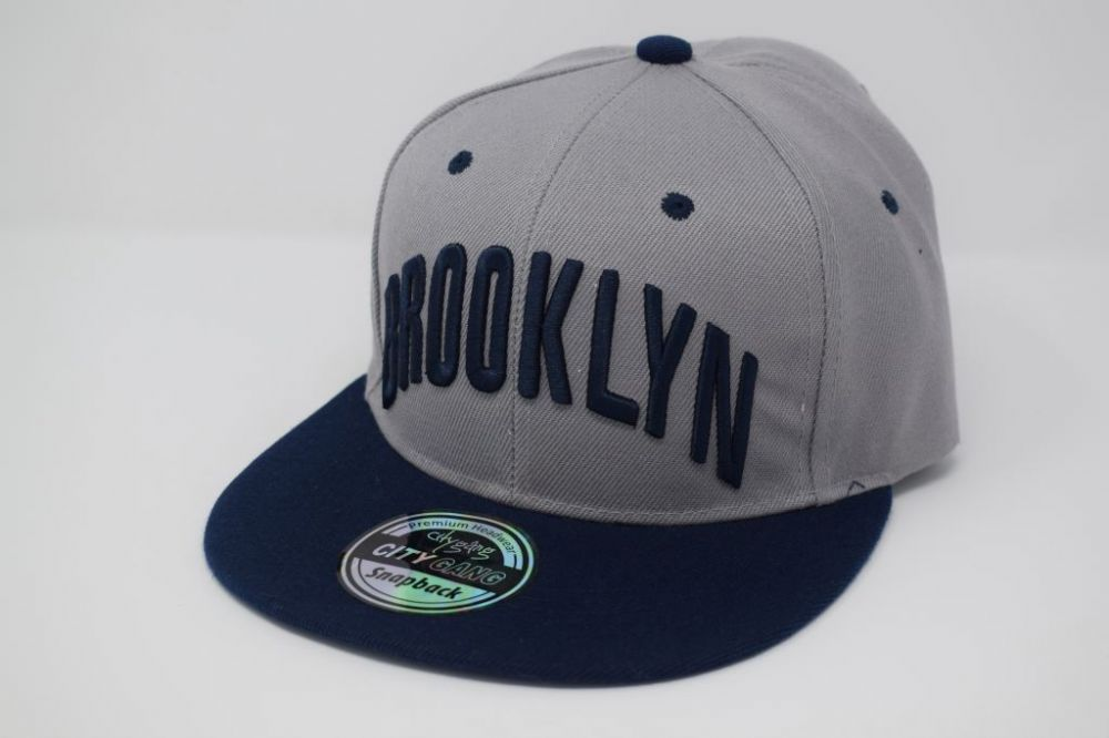 BROOKLYN Snapback Caps, one size fits all adjustable